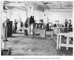 Wood working and furniture workshop interior, probably Capitol Hill, Seattle, October 10, 1934