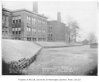 B.F. Day School exterior and grounds after repairs, Fremont neighborhood, Seattle, December 18,...