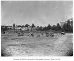 Franklin High School grounds regrade, Mt. Baker neighborhood, Seattle, August 14, 1934