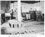 Sheet metal workshop interior, probably in the Capitol Hill neighborhood, Seattle, October 10, 1934