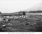 Filling land during construction of the North Bend Airport, North Bend, May 15, 1934