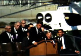 President John F. Kennedy addresses crowd, at the Hanford Nuclear Reservation, Richland,...