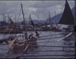 Ships in the harbor and market, Leyte, Phillipines, 1958