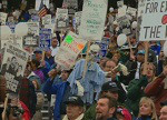 Boeing Machinist Strike Rally 11/12/1995 Seattle, WA Part 1