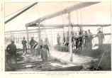 Removing Salmon from Trap Net off Cannery Point Point Roberts, Washington, 1895To Show Heavy...