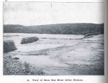 Austin Dam; View of Dam One Hour After Failure