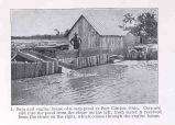 Carp Ponds in Lake Erie RegionDam and engine house of a carp pond at Port Clinton, Ohio. Carp are...