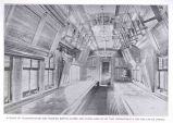 Interior of Transportation CarShowing Berths Closed and Chairs Hung Up So That Compartments for...