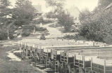 Salmon Rearing TroughsWith Residence and Barracks in Background, Craig Brook Station, ME