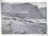 Seining Salmon at Karluk, Looking Southwest.Canneries of Karluk Packing Company (Left) and Alaska...