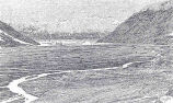 Waste Plain of Hidden Glacier in June, 1899