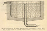 Apparatus for the removal of parasites by a continuous flow of watera, intake; b, water-spreader...
