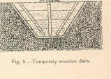 Temporary Wooden Dam