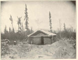 Fort Shoemaker, Dall River. Log House Intended for Use as a Hospital but its Occupancy was Never...