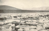 Characteristic view of the Yukon River ice at the time of the spring break-up. The channel of the...