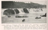Salmon fishing at Willamette Falls, near Oregon City. Thousands of enthusiasts annually make a...