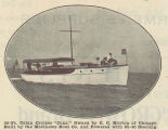 36-Ft. Cabin Cruiser 'June,' Owned by C. C. Horton of Chicago. Built by the Matthews Boat Co. and...