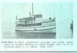 Carlisle II--64-ft combination passenger and frenght carrier, owned by Carlisle Packing Co., Frank...