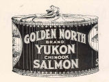 Caught from and Packed on the Yukon : Golden North brand Yukon Chinook Salmon
