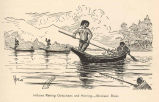 Indians Raking Oolochans and Herring--Stickeen River