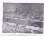 Kentucky River, KY, U.S.A.;; General View of Dam No.7, During ConstructionThe Dam is of the step...