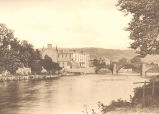 Church Pool at Llanrwst, with Hotel