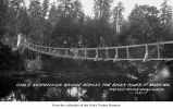 Cable bridge over the Dickey River, Mora, date unknown