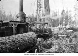 Logging crew with donkey engine, probably on the Olympic Peninsula