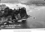 James Island and La push, aerial view