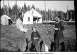 Boe family near their home in Royal, Washington