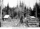 Cabins, probably on the Olympic Peninsula