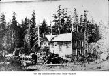House, probably a pioneer home on the Olympic Peninsula