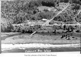 Clallam Bay, aerial view