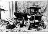 Early log truck, probably on the Olympic Peninsula