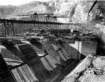 Spillway construction, Grand Coulee Dam, ca. 1937