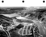 Grand Coulee Dam, aerial view, October 21, 1947