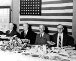 MWAK Co. officials at dinner, Grand Coulee, October 14, 1937