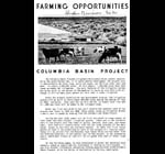 Farming opportunities,Columbia Basin Project