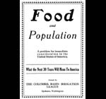 Food and population : a problem for immediate consideration in the United States of America