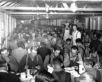 Meal in the Camp Gerome mess hall, ca. 1940.