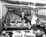 Preparing the dining hall at Gerome Camp, ca. 1940