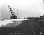 Wreck of the sailing vessel HARRIET on the beach at Nome, Alaska, Sept 17, 1900.