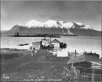 Boat landing at Atlin, Atlin Lake, British Columbia, ca. 1898.