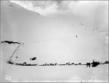 Chilkoot summit from Crater Lake showing the Chilkoot Railway and Transportation Co.'s aerial...