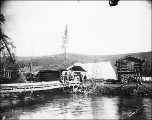 Settlement at the mouth of Hunker Creek, Yukon Territory, ca. 1898.