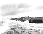 Waterfront from the North American Transportation & Trading Co. during a storm, Nome, Alaska,...