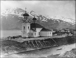 Russian Orthodox church, the Cathedral of the Holy Ascension of Christ, Iliuliuk Bay, Unalaska,...