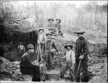 Miners working the No. 35 bench claim below Hunker Creek, Yukon Territory, ca. 1898.