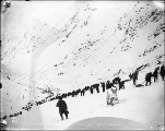 Chilkoot Trail from Stone House, Alaska, 1898.