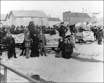 Crowd gathered for election day, Nome, Alaska, 1902.